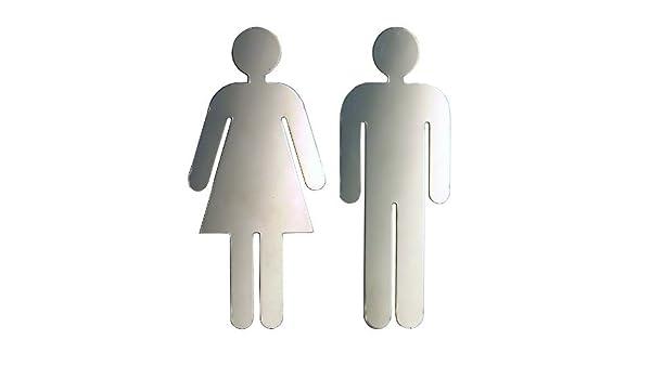 Uomo Toilette segno lucida made in Germany Sch/önbeck Design Targhetta per porta Set Donna