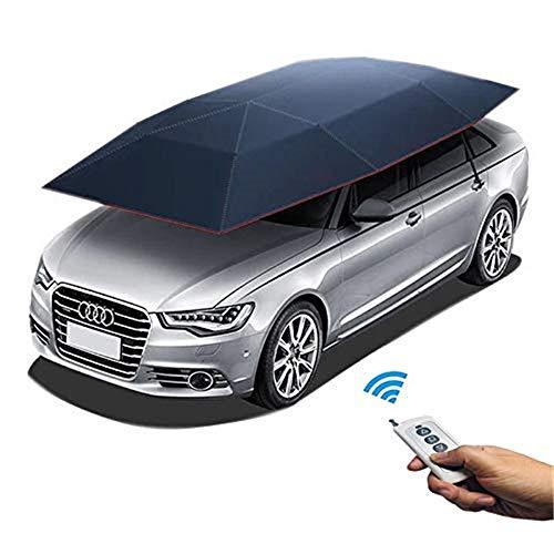 S SMAUTOP Control remoto automático Cubierta de la tienda de coches Dosel de carport móvil Cubierta plegable de la tienda del toldo del paraguas del coche 2.2m * 4.2m