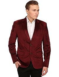 Wintage Men's Velvet Two Buttoned Notch Lapel Party Coat Blazer-4 Colors