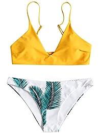 SHENGYI Traje De Baño Bikini Estampado Traje De Baño Dividido Traje De Baño para Mujer Bikini Europeo Y Americano