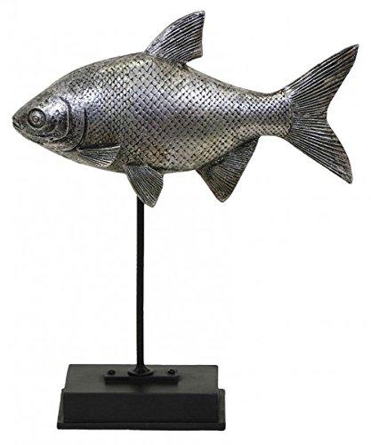 Deko – Figur Fisch 22x7x26,5 cm Figur Gartenfigur Dekofigur auf Ständer Fische