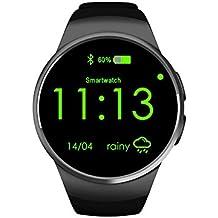 KOBWA KW18 All-in-1 Bluetooth Smart Watch Handys, Sim Handgelenk Smartwatch für IOS/Android-Smartphones Unterstützen SIM TF-Karte-Herzfrequenz-Messgerät