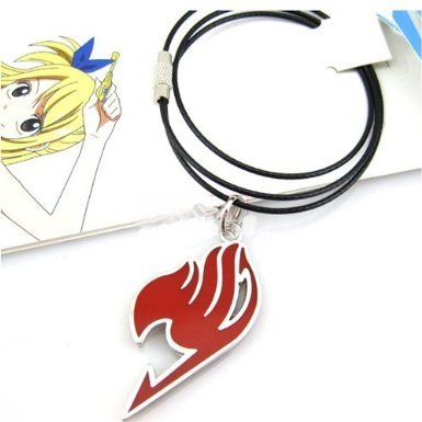 New Cosplay Anime Legierung Edelstahl Fairy Tail rot Halskette (Anime Fairy Halskette Tail)