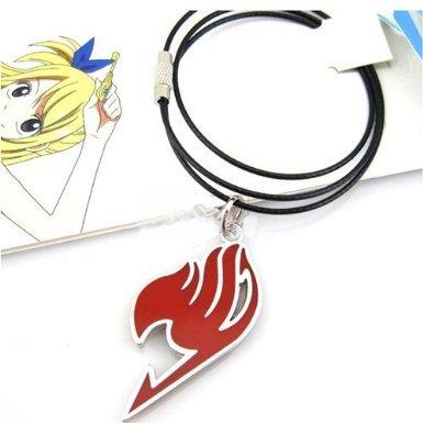 New Cosplay Anime Legierung Edelstahl Fairy Tail rot Halskette (Tail Halskette Anime Fairy)