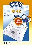 Swirl M 48 MicroPor original - Sparangebot: 4 Premium Microvlies Staubsaugerbeutel
