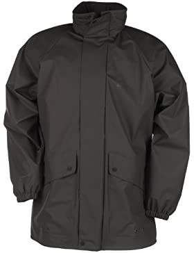 Baleno Arras, Abrigo impermeable, color negro, talla XXXL, 578B