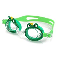 Hamkaw Leakproof Swimming Goggles for Kids UV Protection Anti-Fog Swim Glasses with 2Pcs Earplugs Adjustable Swim Goggles for Boys Girls Age 3-8 Years Old