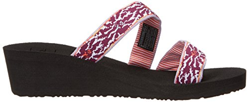 Teva Mush Mandalyn Wedge Loma W's, Tongs Femme Violet (Lucia Multi Purple)