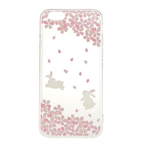 Ultra Dünn Weichen TPU Silikon Schutzhülle Hülle Case Cover für iPhone 6 6S Etui Bumper - Hirsch, Eine Größe Kaninchen