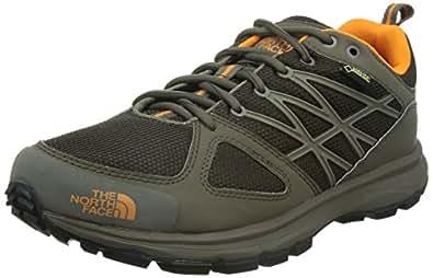 North Face - Scarpe da Trail Running uomo, colore multicolore (marrón / naranja), taglia 45.5