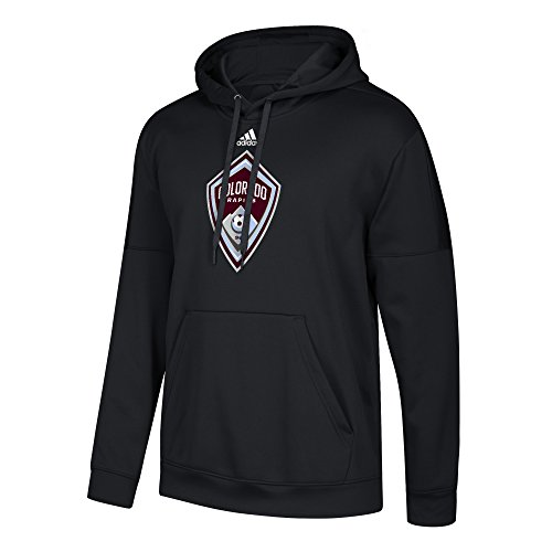 MLS Colorado Rapids Men's Team Issue Preferred Center Patch Pullover Hoodie, XX-Large, Black