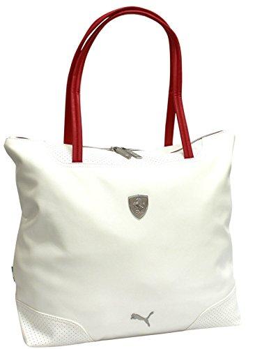 Puma Ferrari LS, da donna, elegante per lo shopping, 071596), (Whisper White/Rosso Corsa),