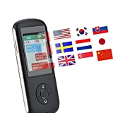 Dispositivo inalámbrico de traducción de Idiomas, Tarjeta Inteligente de 35 Países WiFi Bluetooth Traductor Instantáneo Traductor de Múltiples Idiomas (WIFI/3G/4G/Bluetooth)(Negro)