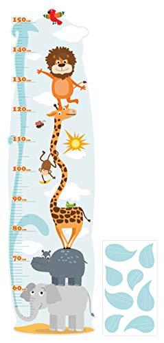 Wandtattoo Kinderzimmer Messlatte Safari zum kleben, beschriften