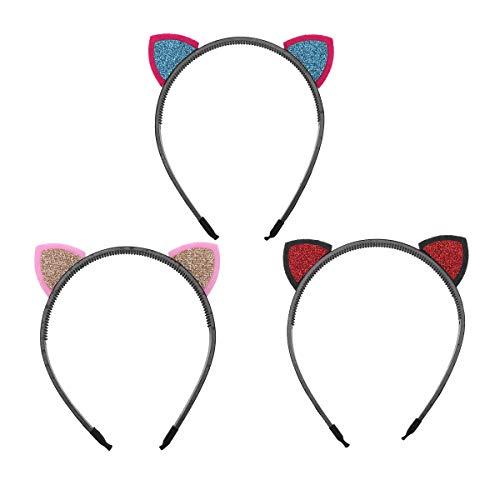 Lurrose 3pcs Katzeohrhaarbandmädchenhaarband-Parteikostüm cosplay Bevorzugungen