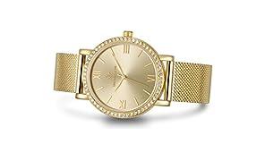 """Timothy Stone orologio I-012-ALMGD""""Indio"""" in oro da donna - Movimento al quarzo con lunetta impreziosita da cristalli Swarovski Cinturino in acciaio inossidabile a tono dorato"""
