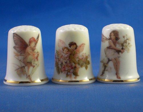 Porcelana China colección de dedales de hadas de cuatro lakeballs