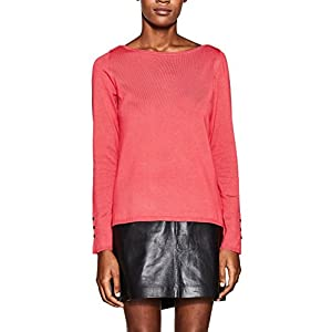 ESPRIT Collection Damen Pullover 997EO1I810 Rot (Berry Red 625) X-Small