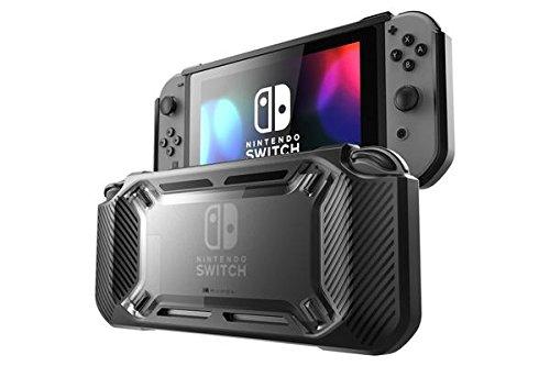 Mumba Nintendo Switch Hülle, [Rugged] Gummiert Case Harte Schutzhülle Schwerlast Cover für Nintendo Switch 2017 Ausgabe (Schwarz) von Mumba