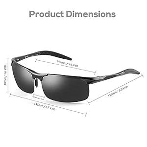 LATEC Gafas de Sol de conducción polarizada, Gafas de conducción para Hombres Gafas Deportivas Gafas de Golf de Pesca con Estructura metálica y protección UV400