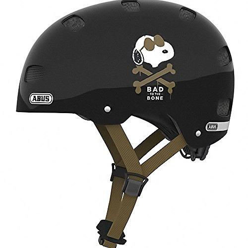 Abus BMX Skate- Fahrradhelm Scraper v.2. Peanuts black bones 48-55 cm