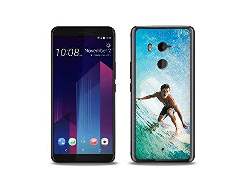 etuo HTC U11 Plus - Hülle Foto Case - Surfer - Handyhülle Schutzhülle Etui Case Cover Tasche für Handy
