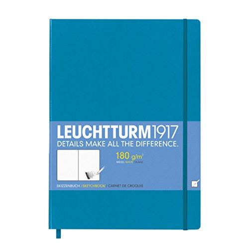 Leuchtturm1917 349379 Skizzenbuch Master (A4+, mit reinweißem, extra starkem 180 g/m² Papier, 96...