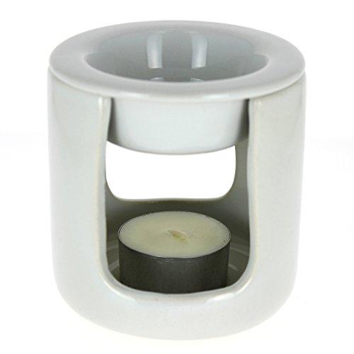 Brûle-parfum en céramique, kit de fumigation - Blanc - Douces Angevines