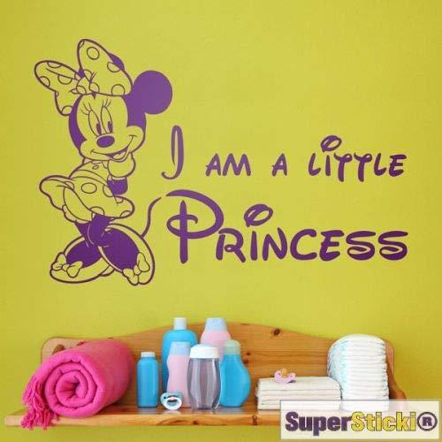 SUPERSTICKI I am a Little Princess Comic Zeichentrick Maus Schleife Wandtattoo 60 x 60 cmHobby Deko Dekoration A1123 aus Hochleistungsfolie Aufkleber Autoaufkleber Tuningaufkleber Hochleis