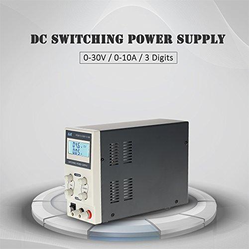 KKmoon Schaltnetzteil 0-30V 0-10A 3 Digits LCD Digital Anzeige/DC Ausgangsspannung Aktuelle Einstellbar