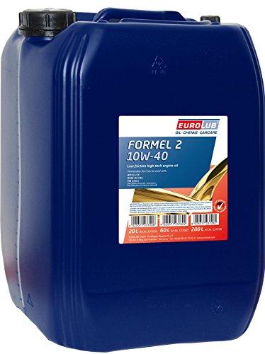Eurolub Formel 2 SAE 10W-40 Motoröl, 20 Liter