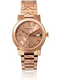 Burberry bu9146 34 mm chapado en oro caja de acero inoxidable oro rosa acero inoxidable bañado en oro sintética Sapphire reloj de pulsera de mujer