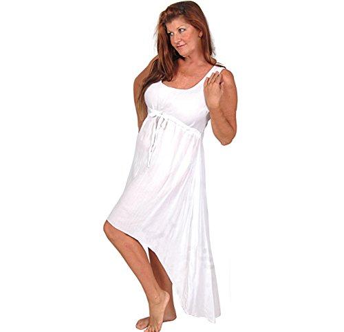 LOTUSTRADERS Damen Hi Lo Kleid Weiß