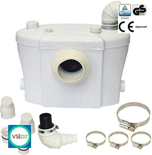 Sanitär zerkleinerungspumpe steriflux® Best Saniflo Alternative Super Silent 3Inlets keine Gerüche. Best Sanitär Lösung 3in 1 (Wasserpumpe Spanner)