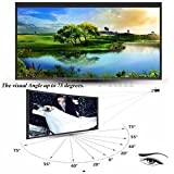 """SLB Works Brand New Portable 60"""" Inch 16:9 Fabric Matte Projector Projection Screen Black White"""