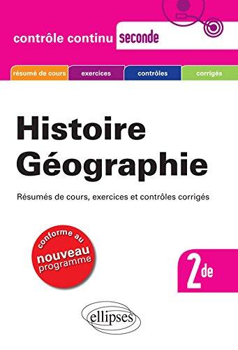 Histoire Géographie 2de Nouveau Programme par Gilles Martinez