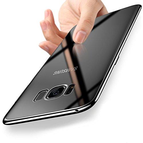 Camera Case Galaxy (Samsung Galaxy S8 Hülle Silikon, Orlegol Handyhüllen Samsung Galaxy S8 Silikon Hülle TPU Bumper Case Cover Ultra Dünn Kratzfest Schutzhülle Case für Samsung Galaxy S8 Cover Case - Clear)