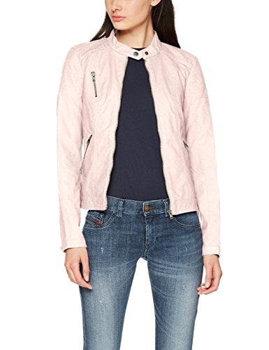 ONLY Damen Jacke Onlsteady Faux Leather Jacket CC Otw, Rosa (Strawberry Cream Strawberry Cream), 36 (Kleid Jacke Rosa)