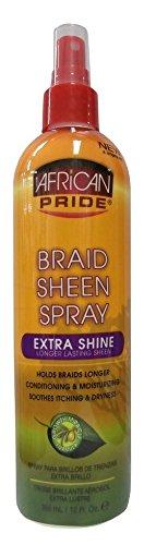African Pride Braid Sheen Spray Extra Shine Longer Lasting Sheen 355ml