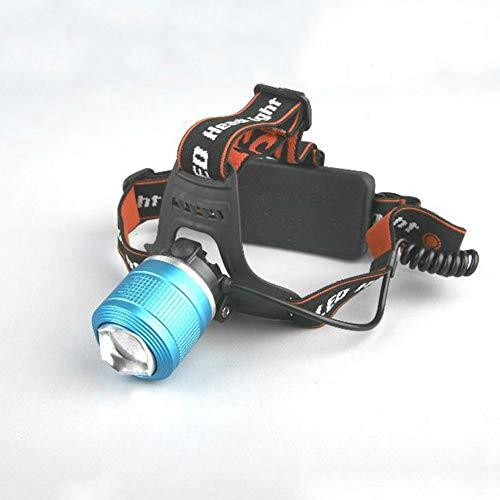 BX-XIAO Led Head Torch -USB Wiederaufladbare Stirnlampen (4000Mah) mit Super Bright 2000 Lumen 90 ° drehbar & Zoomable Headlight