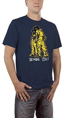 Touchlines Herren T-Shirt Zombie Bat Blau (Navy 18), (Kostüm Kitty Bat)
