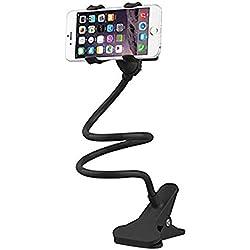 Westeng 1Pcs Soporte Abrazadera Celular Teléfono Móvil Flexible Largo Brazos Universal Para Celular Samsung Galaxy Iphone Lazy Bracket Para Dormitorio Oficina Cocina (Negro)
