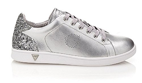 GUESS sneakers donna sportiva glitter PELLE SILVER FLSUP3-SUP12 (35)
