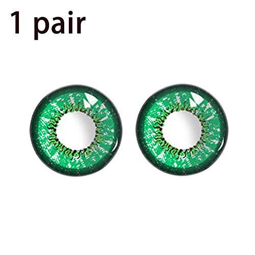 Frauen Multi-Color Kontaktlinsen Cosplay Augen 1 Paar Liebe Worte Stil Halloween Cosplay Bunte Kosmetik Kontaktlinsen