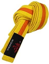 DEPICE Cinturones de artes marciales, color amarillo / naranja, talla 220 cm