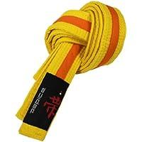 DEPICE Budogürtel gelb/orange zweifarbig – Zwischengürtel Kampfsportgürtel Karategürtel Judogürtel