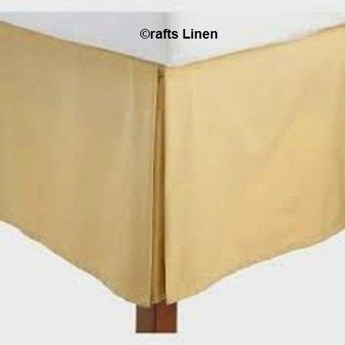 Crafts Leinen Ägyptische Baumwolle Scala Satin One Stück Bett Rock Euro IKEA King (+ 30cm) Pocket Tiefe, Gold massiv