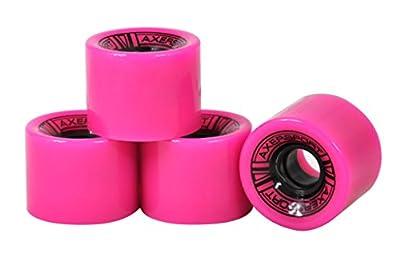Axersport, 4 Stücke Skateboard-Rollen Wheels,60x45mm, rosa