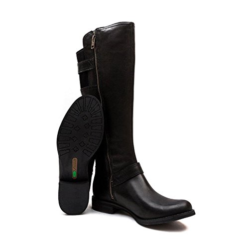 Timberland Savin Hill Tall Zip Ladies Boot Black Swank Leather