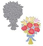 Coupe de métal de bouquet de fleurs de porte de jardin meurt des pochoirs pour le bricolage Scrapbooking gaufrage décoratif Handcraft Die modèle de coupe, H1016